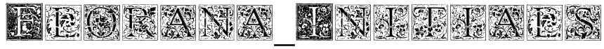 Florana_Initials Font