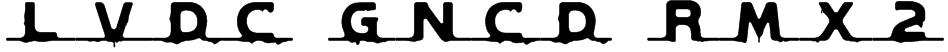 LVDC GNCD RMX2 Font