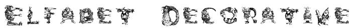 Elfabet  Decorative Font