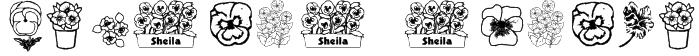 pansies4sheila Font