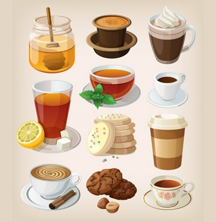 coffee,creative,design,download,elements,eps,graphic,illustrator,new,original,set,tea,vector,web,detailed,cartoon,interface,unique,vectors,cookies,quality,stylish,honey,fresh,specialty,high quality,ui elements,hires,coffee break,takeout,honey pot,iced tea,vector coffee cup vector
