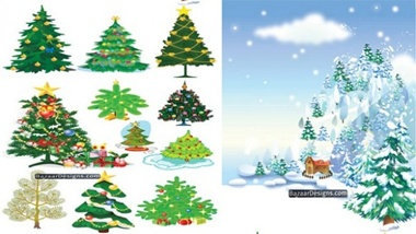 creative,design,download,elements,graphic,illustrator,new,original,snow,tree,vector,web,christmas,background,detailed,interface,winter,unique,vectors,festive,holidays,quality,stylish,fresh,high quality,ui elements,christmas tree,hires,decorated tree,winter scene vector