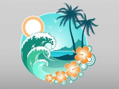 creative,design,download,elements,graphic,illustrator,logo,new,original,pdf,vector,web,travel,detailed,interface,unique,vectors,vacation,palm trees,tropical,quality,stylish,fresh,high quality,ui elements,hires,tropical island,tropics,hibiscus flower,ocean waves vector