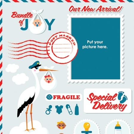 baby,card,day,month,vector,stamp,vectors,icons,newborn,stork,baby bottle,baby card,baby icons,bundle of joy,soor vector