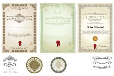 award,set,vector,vintage,seals,vectors,certificates,decorations,diplomas,wreaths vector
