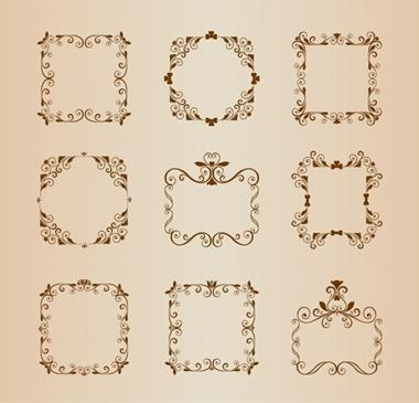vector,vintage,border,frame,floral,scroll,decoration,vectors,ornamental,floral frame,frames vector