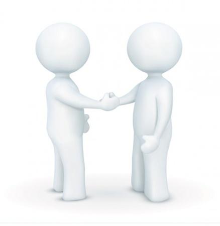 3D Handshake Vector Characters - Download Free Vector Graphics