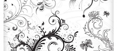 floral,brushes,vectors,decorative,swirls vector
