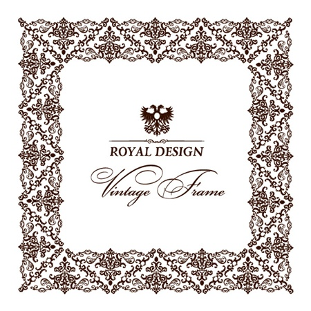 symbol,vector,background,border,frame,scroll,vectors,decorative,wide,vintage frame,lacy,wing crest vector