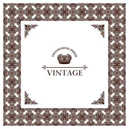 vector,vintage,background,frame,crown,decoration,vectors,wide,vintage frame,decorative corners vector