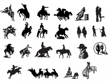creative,design,download,graphic,illustrator,new,original,vector,web,country,western,unique,vectors,cowboy,quality,horses,stylish,fresh,high quality,silhouettes,bucking horse,cowboy silhouette vector