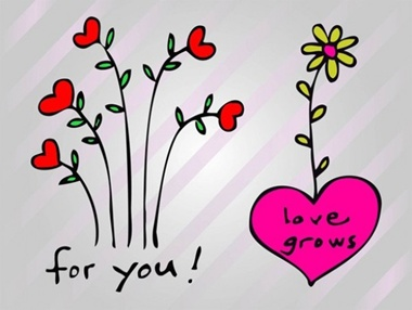 creative,design,download,drawing,graphic,illustrator,love,original,vector,web,hearts,unique,vectors,quality,stylish,fresh,high quality,heart flower,love grows vector