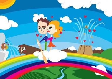 art,clouds,couple,creative,design,download,graphic,illustrator,kiss,love,new,original,vector,web,hearts,rainbow,unique,romance,vectors,waterfall,quality,artwork,stylish,fresh,high quality,kissing vector