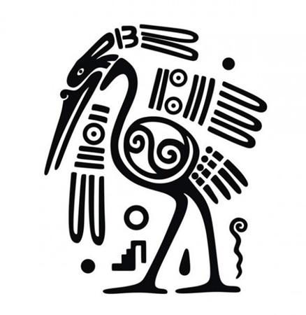 art,bird,creative,design,download,graphic,illustrator,new,original,vector,web,unique,ornament,vectors,quality,stylish,crane,fresh,high quality,ui elements,high res,mayan art vector