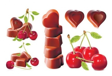 cherry,creative,design,download,graphic,heart,illustrator,new,original,vector,web,chocolate,detailed,valentines,unique,vectors,cherries,quality,stylish,fresh,high quality,ui elements,hires,heart shaped chocolates vector