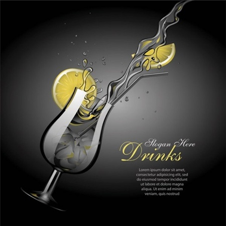 cocktail,creative,design,download,drink,graphic,illustrator,new,original,vector,web,glass,ice,splash,unique,vectors,quality,stylish,fresh,high quality,ui elements,hires,lemon slice,refreshing vector