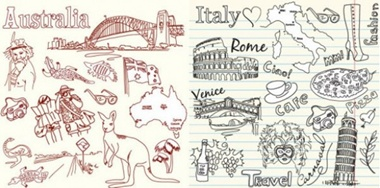 creative,design,download,elements,graphic,illustrator,new,original,vector,vintage,web,australia,sketch,italy,travel,detailed,interface,unique,vectors,colosseum,rome,quality,kangaroo,stylish,fresh,high quality,ui elements,hires,sketched,leaning tower of pisa vector