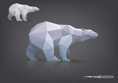 bear,creative,design,download,elements,eps,games,graphic,illustrator,new,original,vector,web,polygon,detailed,interface,unique,vectors,model,quality,stylish,fresh,high quality,ui elements,hires,polar bear,triangle polygon model vector