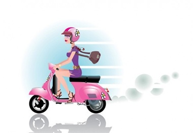 creative,design,download,elements,graphic,illustrator,new,original,shopping,vector,web,detailed,interface,unique,vectors,quality,stylish,fresh,high quality,ui elements,hires,girl motorbike,girl on scooter,pink scooter vector