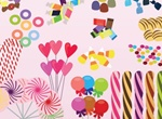 Sweet Candy Treats Vector
