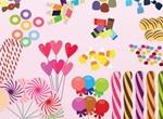 Sweet Candy Treats Vector