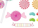 Lollipop Sweet Heart Candies Vector Set