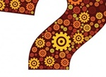 Colorful Gear Decorated Vector Question Mark
