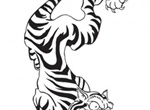 Tattoo Style Vector Tiger Graphic