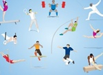 Action Figure Olympic Sports Vector Set