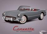 Classic 1953 Corvette Original Vector Graphic