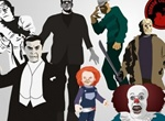 Horror Characters Vector Collection