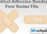 Medical Adhesive Bandage Vector