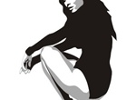 Beautiful Sexy Girl Silhouette Vector Graphic