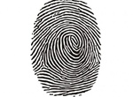 Black Ink Fingerprint Mark Vector Graphic