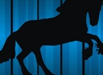 Rearing Horse Silhouette Vector Graphic