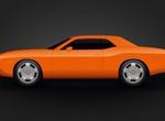 Orange Dodge Challenger Vector Graphic