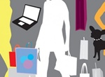 Shopping Silhouette Elements Vector Set