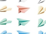 12 Pretty Paper Plane Vector Set