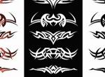 10 Tribal Design Vector Elements Set