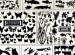 Huge Pack Mixed Plant/ Animal Vector Silhouettes