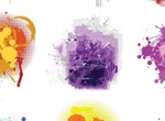 9 Artistic Splatter Paint Vector Elements