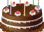 Tasty Birthday Cake Vector Illustration