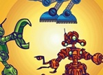 6 Character Action Robots Vector Design Set