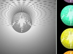 5 Disco Ball Party Lights Vector Set