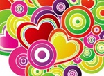 Colorful Heart Bouquet Vector Artwork