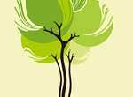 Single Abstract Tree Vector Illustration