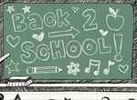 Back To School Doodle Painting Vector Graphic