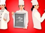 Woman Chef Cook Illustration Vector