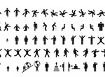 Men Women Sign Pictograms Vector Set