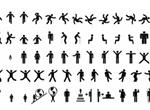Men Women Sign Pictograms Vector Set